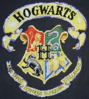 Hogwarts Crest Cross Stitch by rhaben