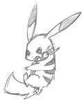 Pikachu Sketch Base by Undeniable-beliefs