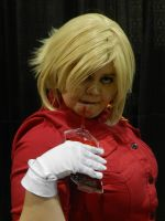 LevelUp 2014 Seras Victoria drinking blood pack by Demon-Lord-Cosplay
