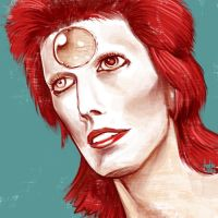 Daily Sketches Ziggy Stardust by fedde