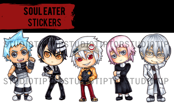 Soul Eater Stickers by StudioTipTop