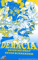 Valoran War Posters: Demacia v.2013 by a-bad-idea