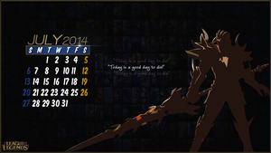 League of Legends Calender 2014 - July by CreateMyIntro