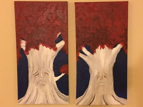 Weirwood Trees Game of Thrones by conwaysuccess