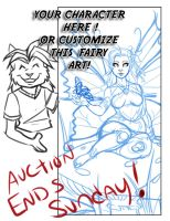 YCH Fairy Bookmark Auction Ends Sunday ! by lady-cybercat