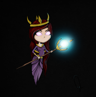Chibi Summoner. (My very first Illustration) by Jaacqs