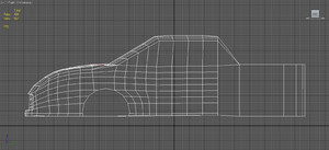 Car WIP 3ds max 2012 Side View by Lapt0pGuy