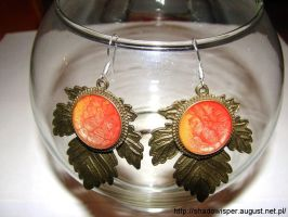 Autumn leaves earrings by Shadowisper