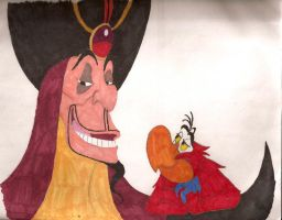 Jafar and Iago by MercerMZ