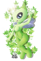 Celebi Anthro by oldanthropokemon