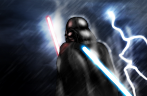 Darth Vader in rain by DarthDestruktor