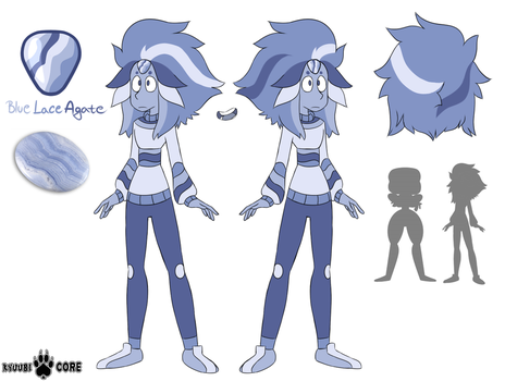 Steven Universe OC: Blue Lace Agate by KyuubiCore