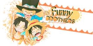 Funny Brothers-One Piece by KarenAlvizo