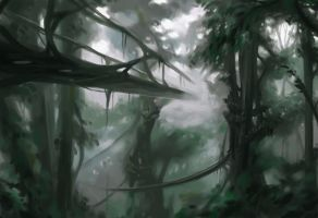 speedpaint - Tree Bridges by Evelar