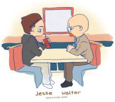 Breaking Bad: Jesse and Walter by strawheart