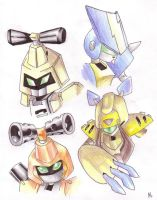 Medabot gang by Nekoian