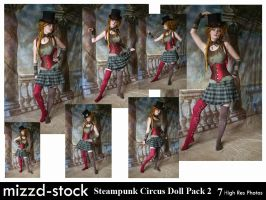 Steampunk Circus Doll Pack 2 by mizzd-stock