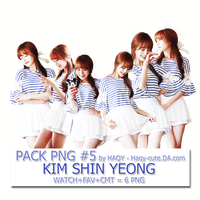 Pack Png #5 - Kim Shin Yeong by Haqy-cute