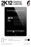 iPad 2K12 Desktop Calendar by sub88