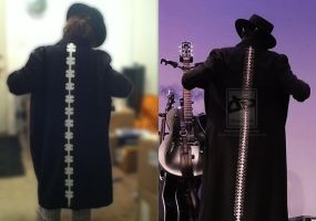 Spines trench coat [part of my sisters costume] by ZoraSteam
