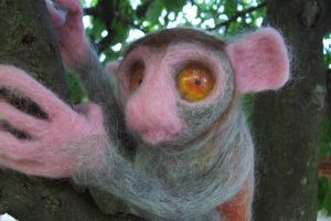 Needlefelt Tarsier III by shadechristiwolven