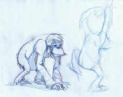 Zoo Sketch - Orangutan by Zubby