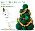 Sapin de Noel / Christmas Tree - Amigurumi Pattern by FROG-and-TOAD