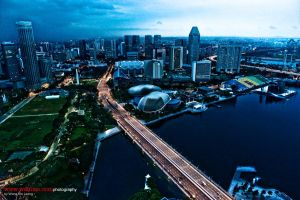 Singapore Skyline v3 by wahliaodotcom