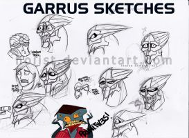 Garrus Sketches- Sept. 2012 by hoiist