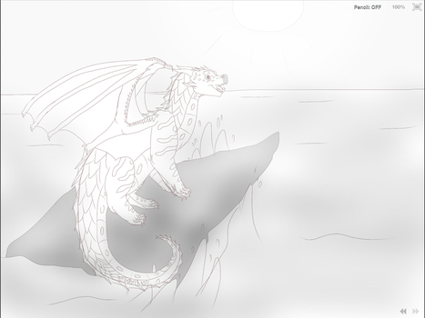 Churning Tides Cover WIP by tidepool-seawing
