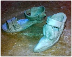The clay shoes by Kotwinka