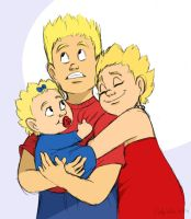 Bart, Lisa, and Maggie Simpson by DrZime