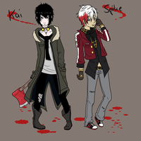 Kai and Spike by eente