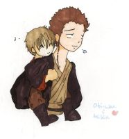 Anakin and Obi-wan by spellbound55
