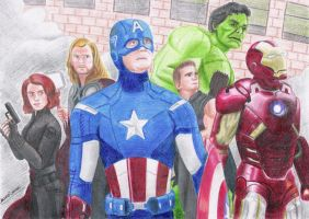 Avengers drawing - 2013 by andrecamilo20