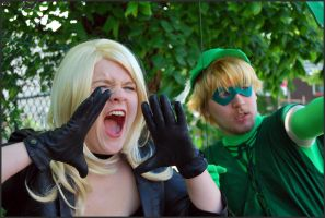Black Canary and Green Arrow by Lakonnia