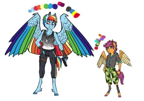 Infected!AU: Rainbow Dash and Scootaloo by Earthsong9405