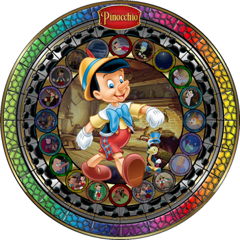 Masterpiece Pinocchio Stained Glass by Maleficent84