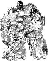 Iron Man vs Iron Monger by PhillieCheesie