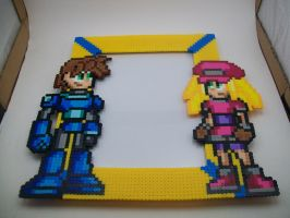 Megaman and Roll Picture Frame by yumeleona23