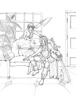 Devil May Cry 3 lineart by kzeor