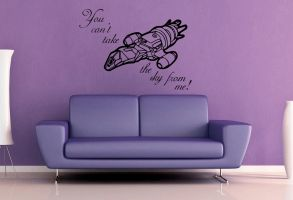 You Can't Take the Sky From Me Wall Decal by GeekeryMade