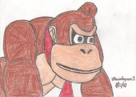 Donkey Kong Drawing by MarioSimpson1