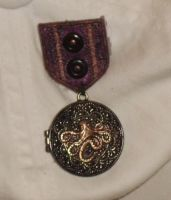 Black and Copper Cthulhu War Medal 2 by Windthin