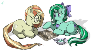 Commission - Friendly Game by HeartGear