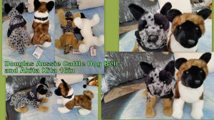 Douglas Aussie Cattle Dog bell and Akita Kita 16in by Vesperwolfy87