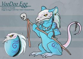 The VooDoo Egg (Hatched Adoptable) by Ulario