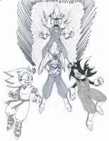 Sonic and Shadow as Vegetto by Gojira007