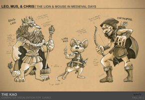 The Lion + Mouse in Medieval Days by TheK40