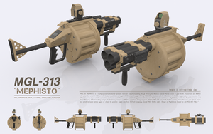 MGL-313 MEPHISTO - Multipurpose Grenade Launcher by cr8g